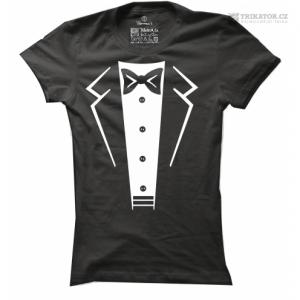 Dámské tričko Suit-Bow Tie
