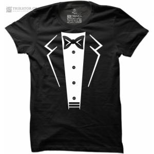 Pánské tričko Suit-Bow Tie