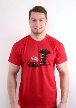 Tričko Co tě tak vytočilo červené