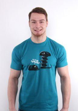 Tričko Co tě tak vytočilo modré