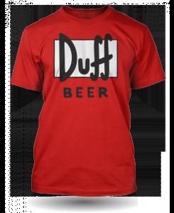 Tričko DUFF BEER - Simpsons červené
