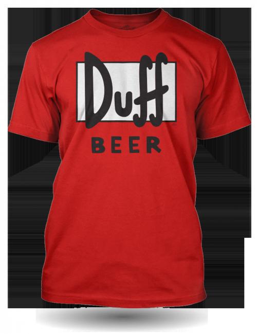 Pánské tričko Duff Beer Simpsons - červené