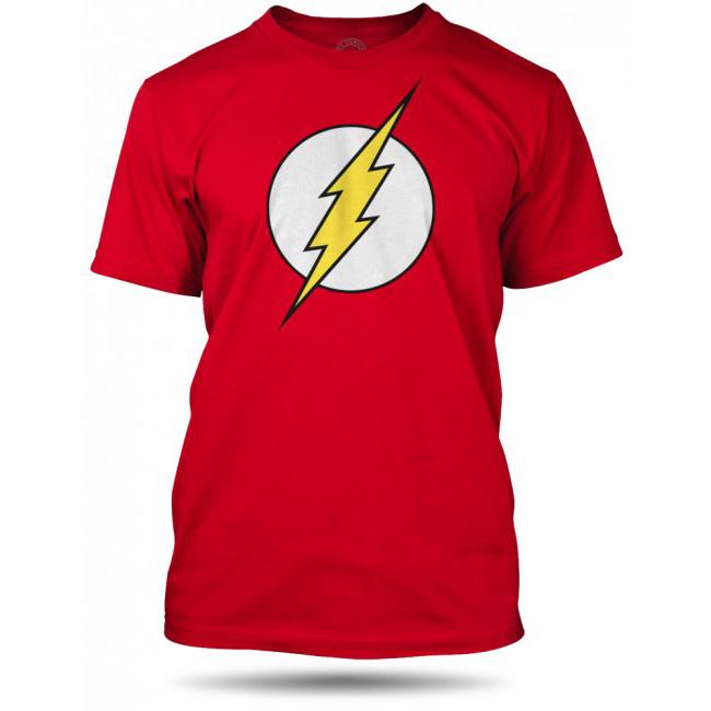 Tričko s logem Flash – červené