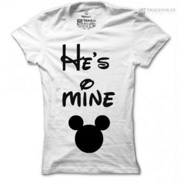 Dámské tričko He is mine