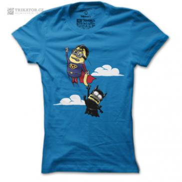 Modré dámské tričko Minion's Fight