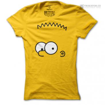 Žluté dámské tričko Bart Simpson
