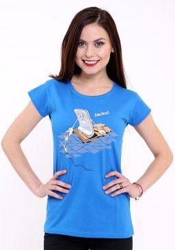Modr= dámské tričko Jacku - Bastard
