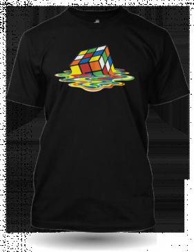 Černé tričko Rubikova kostka