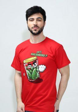 Pánské červené tričko Nakládačka - Bastard