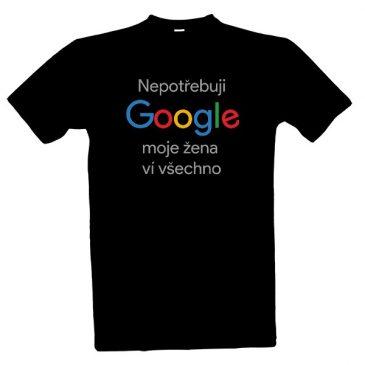 1bcc46b0cfe1 Tričko Nepotřebuji Google