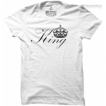 Pánské tričko s nápisem King