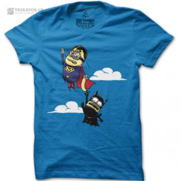 Modré pánské tričko Minion's Fight