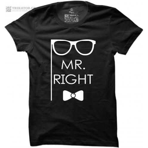 Pánské tričko s nápisem Mr. Right