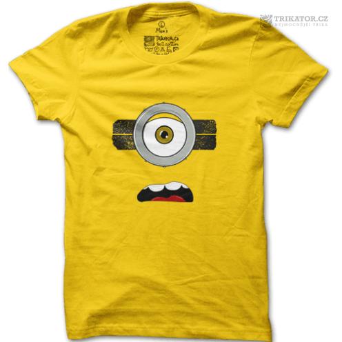 Tričko Natvrdlý mimoň – žluté