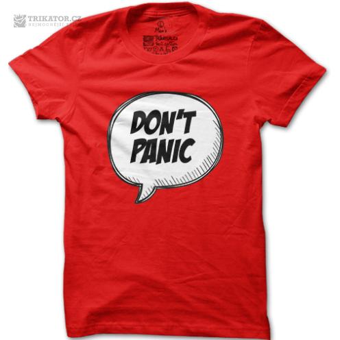 Tričko Don't Panic – červené