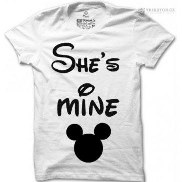 Tričko She/He is mine