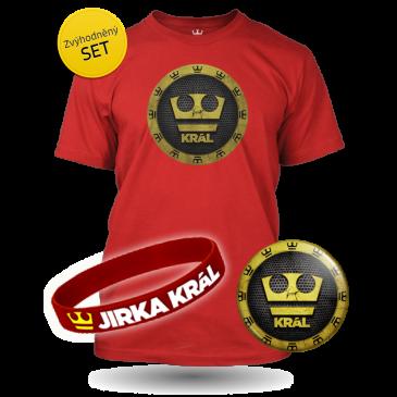 Jirka Král set - Tričko,Náramek,Placka