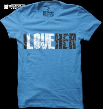 Pánské modré tričko I love her