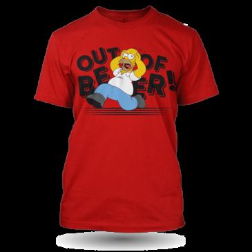 Pánské červené Tričko Out of Beer