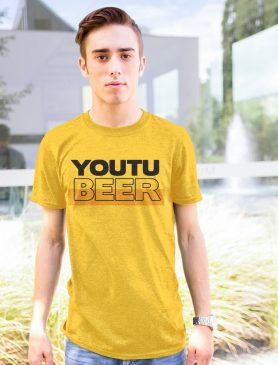 Pánské žluté tričko Youtubeer - Trikátor