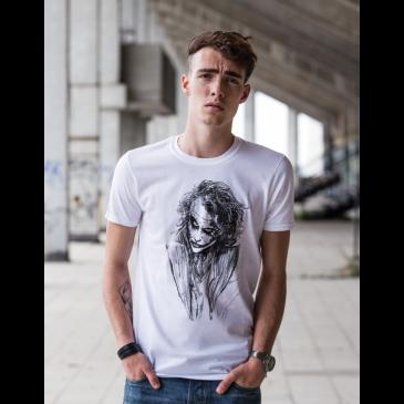 Bílé tričko Joker z Batmana - Zmerčito.cz